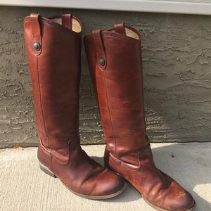 Frye melisa button tall riding boots